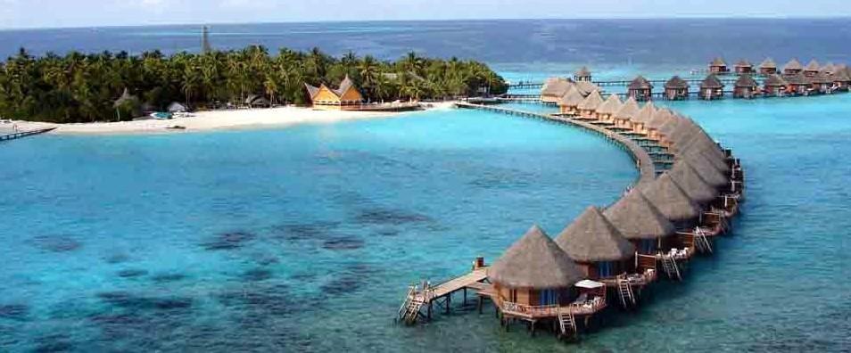 马尔代夫蓝色美人蕉岛6天4晚自由行上海新航转机