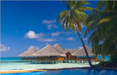 马尔代夫蓝色美人蕉岛6天4晚自由行香港美佳直飞